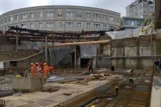 Baugrube_Bewehrungsverlegung der Bodenplatte